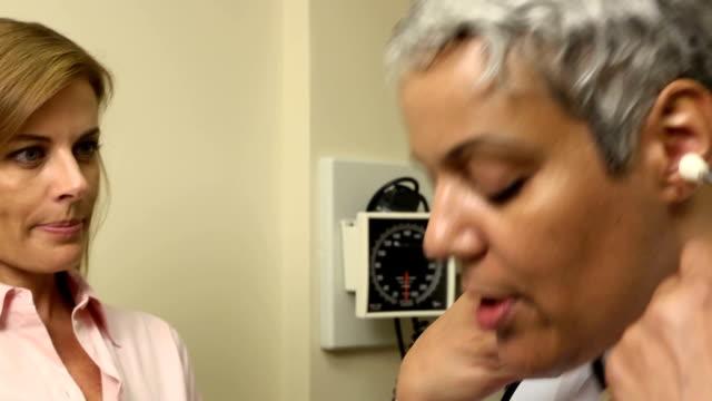 Medical Exam - Adult Woman CU video