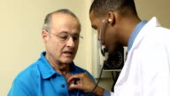 Medical Exam - Senior Man CU video