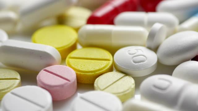 Medical pills. Close up. video