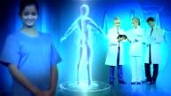 Medical Professionals CG Digital 3D Graphics Male Figure video