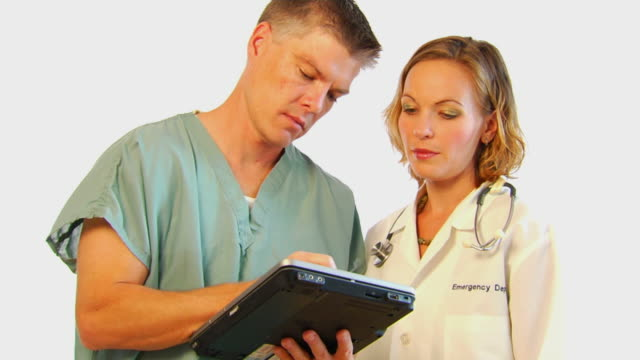Medical Professionals use Tablet Computer video