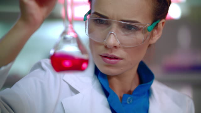 Medical scientist doing laboratory research. Pharmaceutical research video