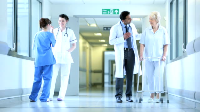 Medical Staff Working Busy Hospital Facility video