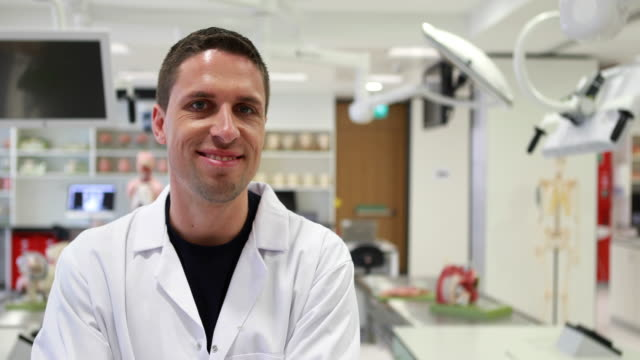 Medical student smiling at the camera video