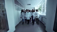 Medical students in the hall video