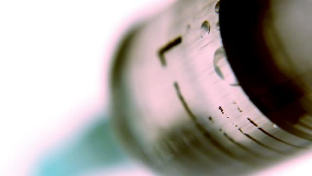 Medical Syringe, Injection, Macro, Syringes, needle concept video