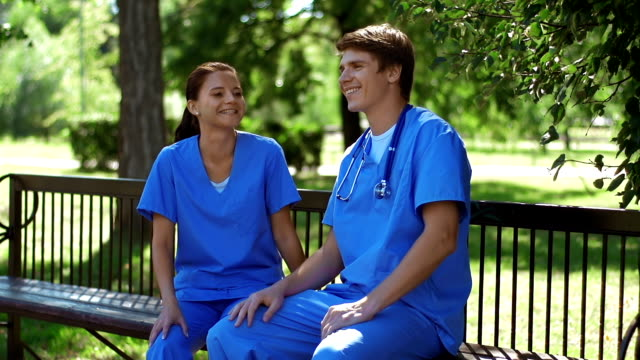 Medical Workers at Rest video