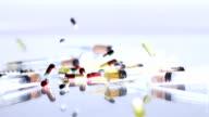 HD SLOW MOTION: Medicaments Falling On Syringes video
