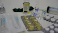 Medicine bottle vitamin and supplements pills video