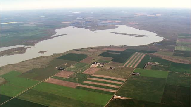 Medicine Lake  - Aerial View - Montana, Sheridan County, United States video