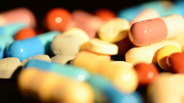 Medicine moving close up video