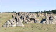 Medicine Rocks State Park  - Aerial View - Montana, Carter County, United States video