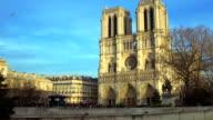 Medieval abbey church Basilica of Saint Denis in Paris, antique architecture video