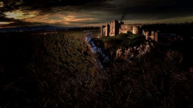 medieval castle up in hills video