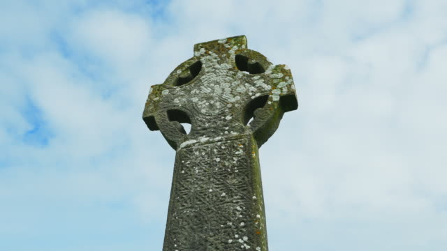 T/L Medieval Irish High Cross In Kilfenora In County Clare video
