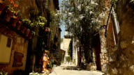 Medieval small street at Tourrettes sur Loup, South France video