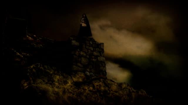 medieval sorcerer casting spell video