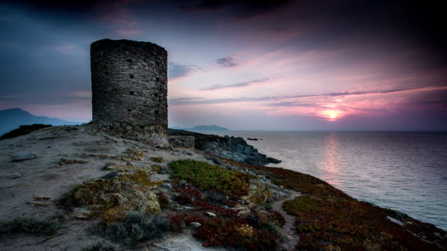 TIME LAPSE: Medieval Tower at Sunset video