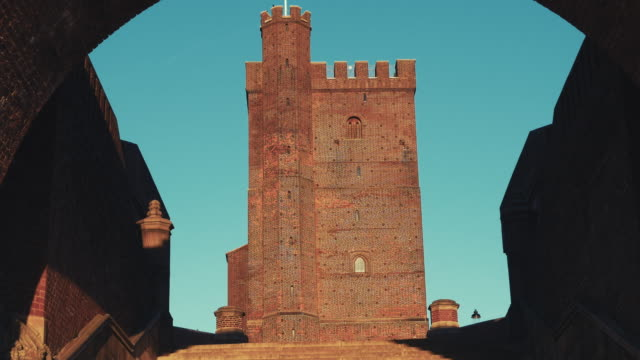 Medieval tower in Helsingborg, Scania, in southern Sweden video