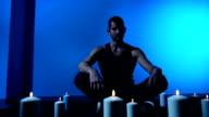 Meditating video