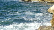 Mediterranean sea in Marseille on a windy day with swirl video
