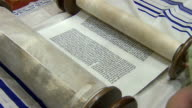 Medium Shot of Torah Scroll video