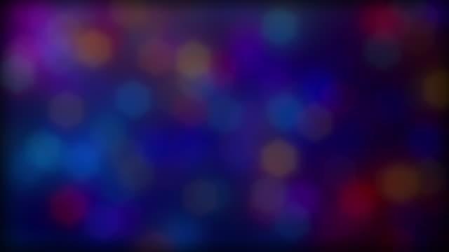 Medium Sized Multi Color Defocused Bokeh Background video