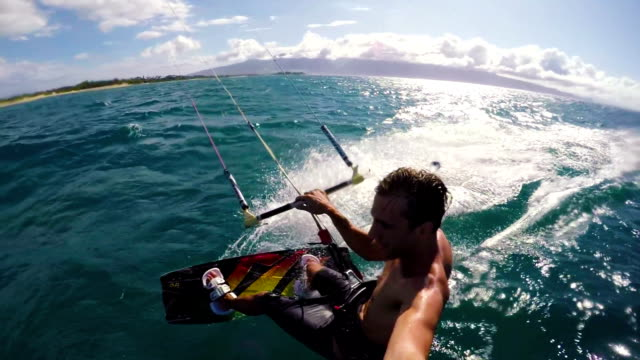 Medium Speed POV Kite Surfing video