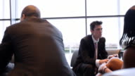 Meeting in office lounge video