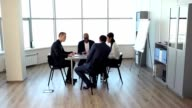 Meeting in the Spacious Office video