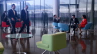 Meetings and staff in waiting lounge video