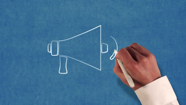 Megaphone Blueprint Stop-Motion Style Animation video