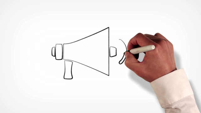 Megaphone Whiteboard Stop-Motion Style Animation video