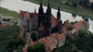 Meissen  - Aerial View - Saxony,  helicopter filming,  aerial video,  cineflex,  establishing shot,  Germany video