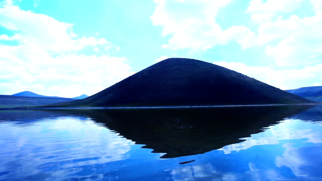 meke crater lake, konya. video