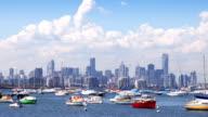 Melbourne Australia view across bay video