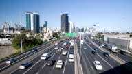 Melbourne city traffic time lapse video