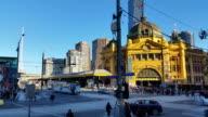 Melbourne City Victoria Australia -Flinders Street station video