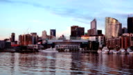 Melbourne Docklands Day to Night Timelapse video