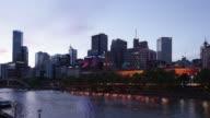 Melbourne Sunset Motion Timelapse video