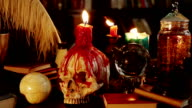 Melted Skull Candle Magic Artifacts (HD) video