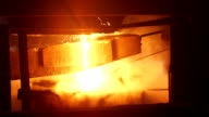 Melting of the metal at the factory. video