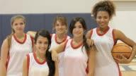 Members Of Female High School Basketball Team video