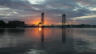 Memorial Bridge in Portsmouth, New Hampshire video
