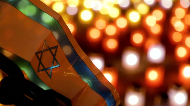 A memorial ceremony dedicated to the Holocaust. video