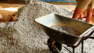 Men are stone wool construction video