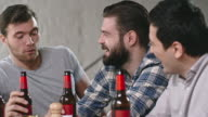 Men Drinking Beer and Talking video
