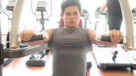 Men is exercising video