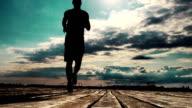Men jogging video