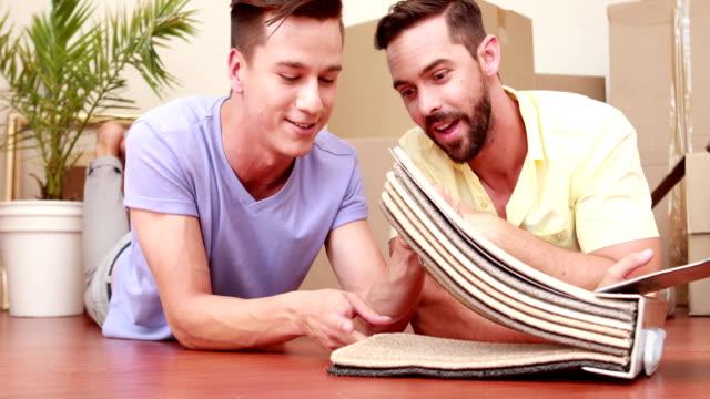 Men looking carpet video